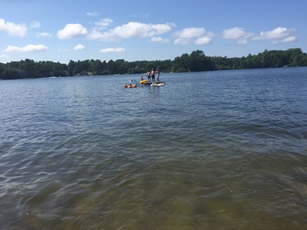 Wareham MA vacation rental - Fun times on the raft.