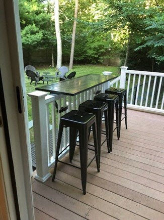 Mashpee Cape Cod vacation rental - The deck also offers counter height bar overlooking the yard.