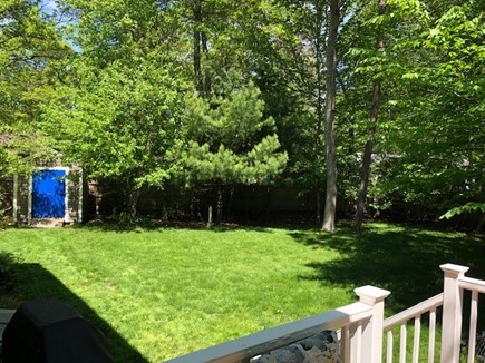 Mashpee Cape Cod vacation rental - Private fenced level back yard with plenty of room for yard games