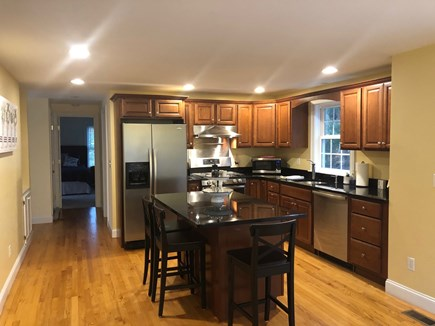 Mashpee Cape Cod vacation rental - Fully stocked kitchen w/ island and great coffee nook, Gas Stove