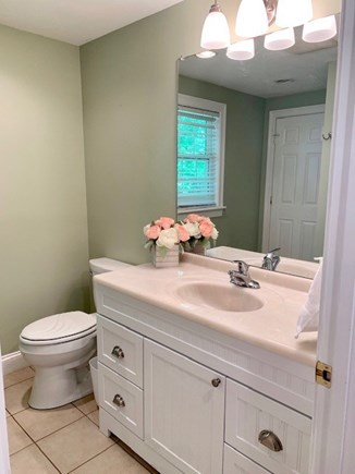 Mashpee Cape Cod vacation rental - First Floor Hollywood Bathroom with Shower Stall