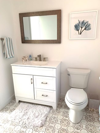 Brewster Cape Cod vacation rental - Master bathroom, tub with shower head/glass door(not shown)