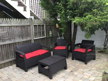 Provincetown Cape Cod vacation rental - Patio seating, with some shade during parts of the day