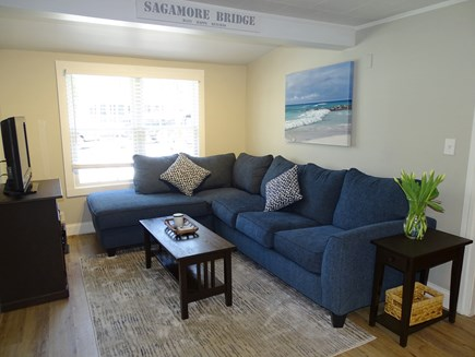 Yarmouth Cape Cod vacation rental - Living area with new couch and TV