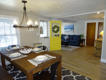 Yarmouth Cape Cod vacation rental - Living room enters into spacious dining area, kitchen