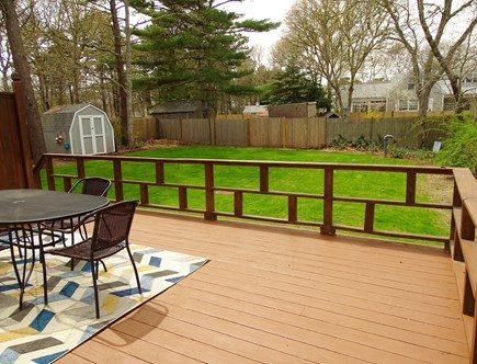 Yarmouth Cape Cod vacation rental - Deck area with table, grill, (couch coming)