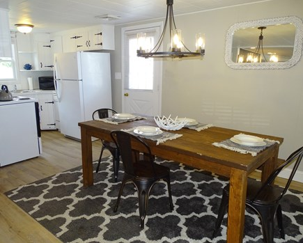 Yarmouth Cape Cod vacation rental - Dining area seats 7, door to back deck