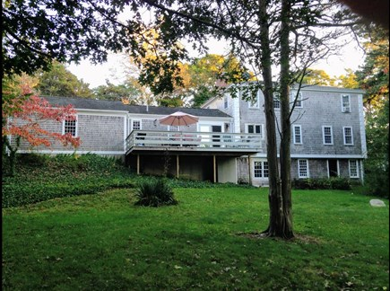 East Orleans/Nauset Beach Cape Cod vacation rental - Backyard, house with deck.