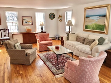 East Orleans/Nauset Beach Cape Cod vacation rental - Living Room from entrance to kitchen.