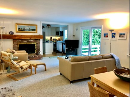 East Orleans/Nauset Beach Cape Cod vacation rental - Family room extension w/deck and open to kitchen.