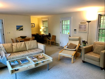 East Orleans/Nauset Beach Cape Cod vacation rental - Family room with front entrance, full bath, washer, dryer.