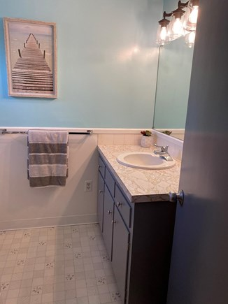 Falmouth Cape Cod vacation rental - Bathroom with shower and tub