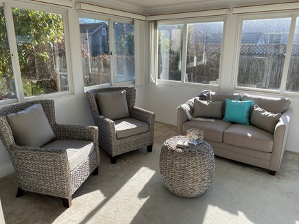 Falmouth Cape Cod vacation rental - All season sunroom with walk out to patio