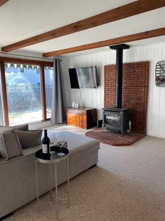 Falmouth Cape Cod vacation rental - Living room with large window letting in plenty of sunlight