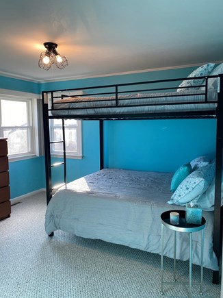 Falmouth Cape Cod vacation rental - Bedroom with full size bunk bed and twin size trundle bed