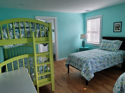 West Harwich Cape Cod vacation rental - 2 twins and a bunk set as well as a full bath