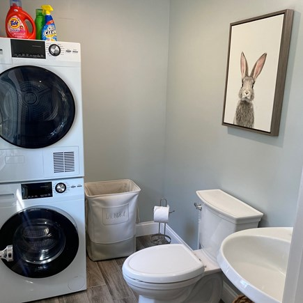 Chatham Cape Cod vacation rental - Half bath with stacked washer and dryer