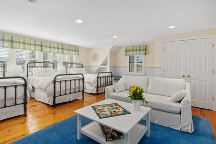 Chatham Cape Cod vacation rental - Bonus room - above garage loft w/ 3 twins and queen sleeper sofa