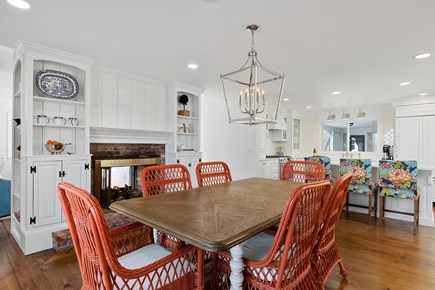 Chatham Cape Cod vacation rental - Dining area with gas fireplace
