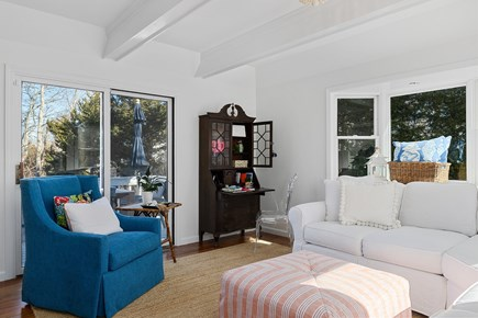 Chatham Cape Cod vacation rental - Sunny living room with sliders onto the back deck