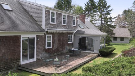 Cotuit Cape Cod vacation rental - Rear Deck from Upper Yard.