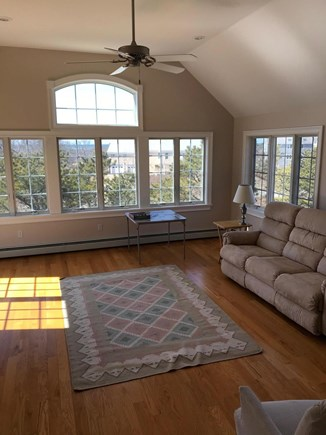 Eastham Cape Cod vacation rental - Living Room with amazing sunset view