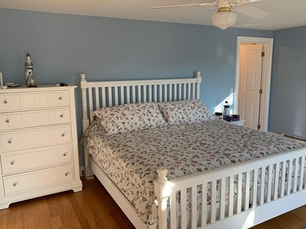 Eastham Cape Cod vacation rental - Large Master Bedroom with view sliding doors to deck