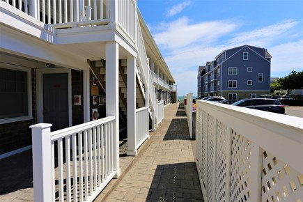 Dennis, The Beachside Condo Cape Cod vacation rental - Walkway to the beach