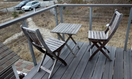 Provincetown Cape Cod vacation rental - Upper-level deck- watch all the lights come on in Provincetown