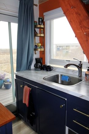 Provincetown Cape Cod vacation rental - Well-equipped and sharp looking cabinets