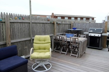 Provincetown Cape Cod vacation rental - More outdoor living space with dining and gas grill