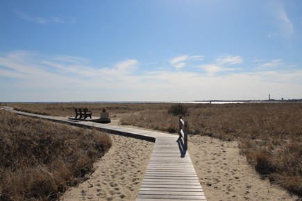 Provincetown Cape Cod vacation rental - Boardwalk to the beach