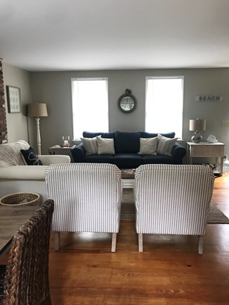 Eastham Cape Cod vacation rental - Cozy living room with 60in. Flatscreen smart TV and blue ray DVD