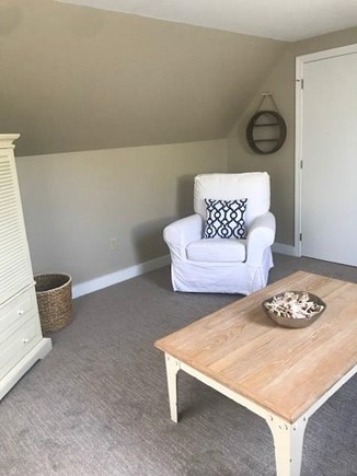 Eastham Cape Cod vacation rental - Upstairs loft room swivel reading chair.