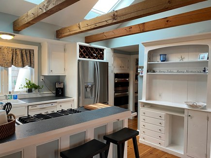 South Yarmouth Cape Cod vacation rental - Kitchen with vaulted ceiling and sky lights