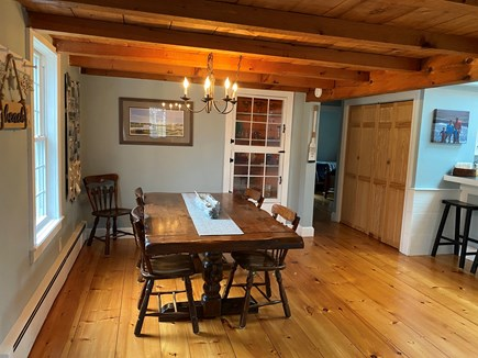 South Yarmouth Cape Cod vacation rental - Large kitchen table for meals and games
