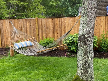South Yarmouth Cape Cod vacation rental - Hammock off the side deck