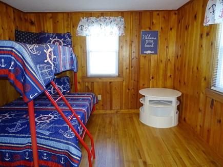 Yarmouth Cape Cod vacation rental - Nautical bunk bedroom, new memory foam twin and full mattresses