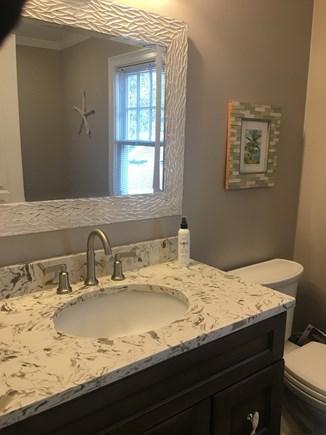 Centerville -Lake Wequaquet Cape Cod vacation rental - Master bath downstairs
