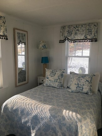 Centerville -Lake Wequaquet Cape Cod vacation rental - Bedroom 1 on first floor with full bath off bedroom with a view.