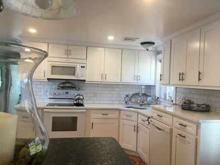 Centerville -Lake Wequaquet Cape Cod vacation rental - New sunny kitchen equipped with amenities while enjoying a view!