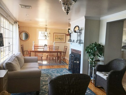 Centerville -Lake Wequaquet Cape Cod vacation rental - Living dinning area with sitting for 6 to enjoy delightful meals.