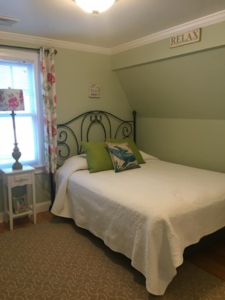 Centerville -Lake Wequaquet Cape Cod vacation rental - Sunny upstairs bedroom with queen bed for quiet nights sleep.
