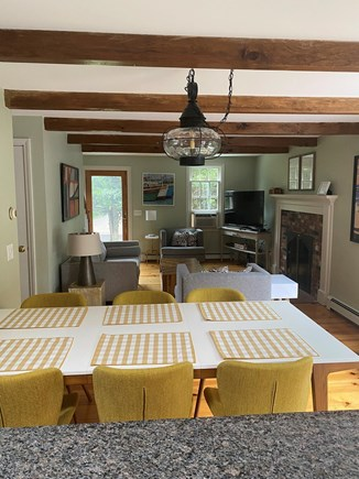 Orleans Cape Cod vacation rental - Dining Room into open living room.