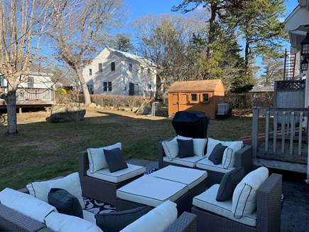 New Silver Beach N. Falmouth Cape Cod vacation rental - Very comfortable backyard outdoor sitting area.