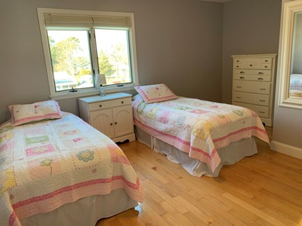 New Silver Beach N. Falmouth Cape Cod vacation rental - Second floor bedroom with twin beds.