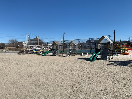 New Silver Beach N. Falmouth Cape Cod vacation rental - Playground and tennis/basketball courts at New Silver Beach.