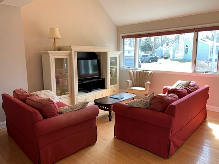 New Silver Beach N. Falmouth Cape Cod vacation rental - Comfortable couches for conversation or TV.