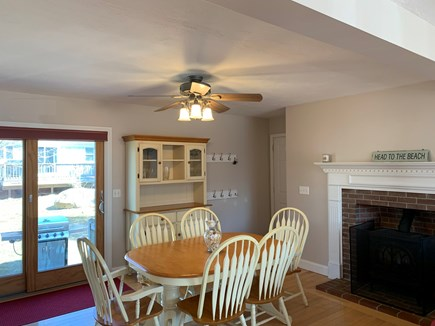New Silver Beach N. Falmouth Cape Cod vacation rental - Enjoy meals indoors with Central AC.