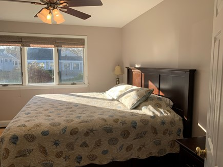 New Silver Beach N. Falmouth Cape Cod vacation rental - First floor bedroom with king bed.